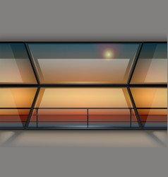 modern panoramic window vector image vector image