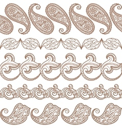 Set of ethnic design elements vector image