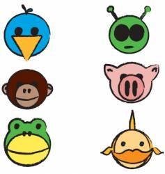 animals cartoon sketch vector image