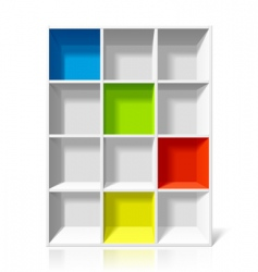 empty bookshelf vector image vector image