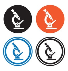 Microscope icons vector image vector image