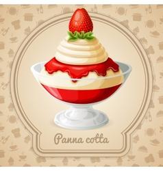 Panna cotta badge vector image vector image