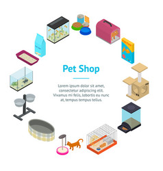 accessories for domestic pets banner card circle vector image