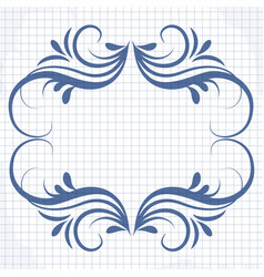 background of a notebook with a patterned frame vector image vector image