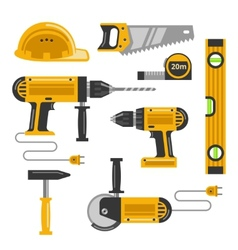 Construction tools flat icons vector image vector image