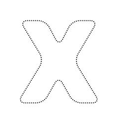 letter x sign design template element vector image