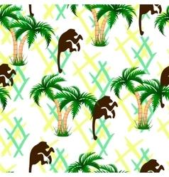 Palm trees monkeys Seamless vector image vector image