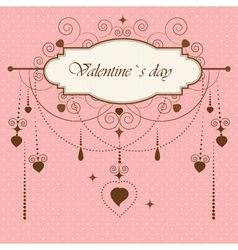 Vintage valentines card vector image vector image
