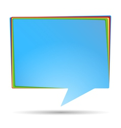 Abstract Speech Bubble Banner vector image