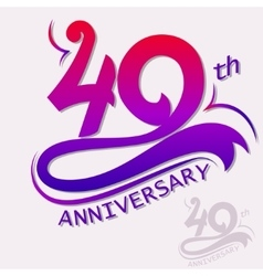 Anniversary Design Template celebration sign vector image