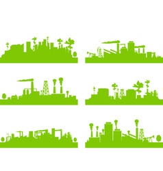 eco factories vector image vector image