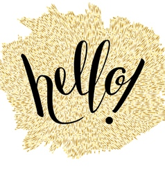 Hand Lettering Hello vector image vector image
