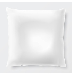 Isolated White Pillow With Shadow vector image