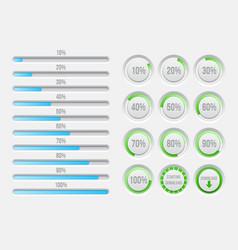progress bars elements vector image