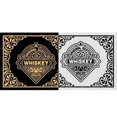 Vintage label for whiskey packing vector image vector image