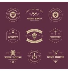 Wine labels on dark background vector image vector image