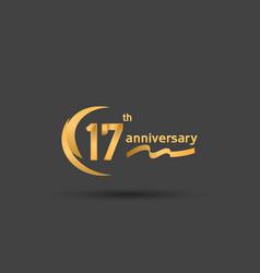 17 years anniversary logotype with double swoosh vector