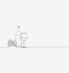 a bottle wine and a glass icon vector image