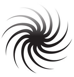 Abstract spiral graphics in black and white vector