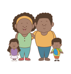 african american family father mother son and vector image