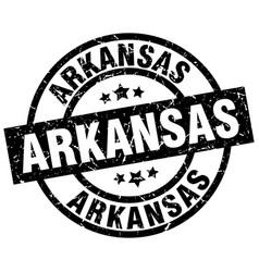 Arkansas black round grunge stamp vector