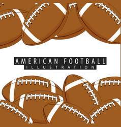 Background of balls for american football vector