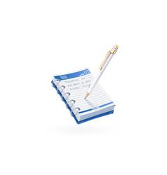 Ball pen write in notebook vector