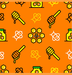 bee honey color seamless pattern vector image