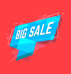big sale banner flat style sale ribbon banner vector image