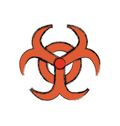Biohazard advert sign vector