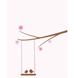 bird swing vector image