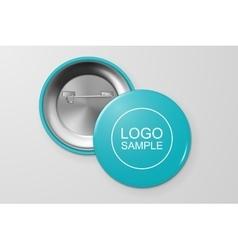 Blank button badge vector