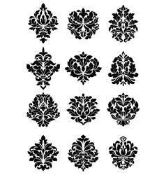 bold floral arabesque motifs vector image