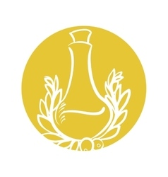 Bottle olive oil emblem label vector