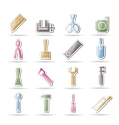 building tool icons vector image
