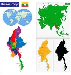 Burma map vector image