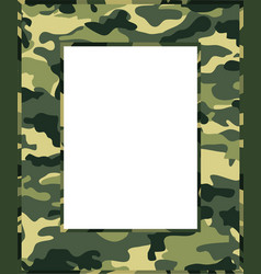 camouflage photo frame vector image