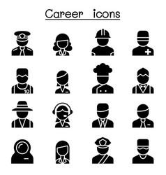 career occupation profession icon set vector image