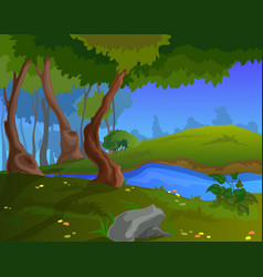 cartoon autumn background for a game art vector image