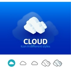 Cloud icon in different style vector image