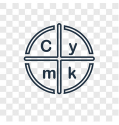 cmyk concept linear icon isolated on transparent vector image