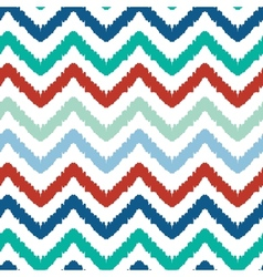 Colorful ikat chevron seamless pattern background vector