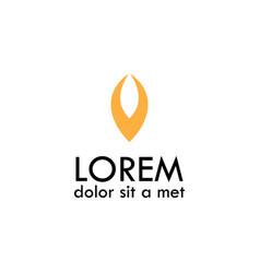 curve letter v logo vector image