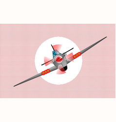 Diving fighter plane vector