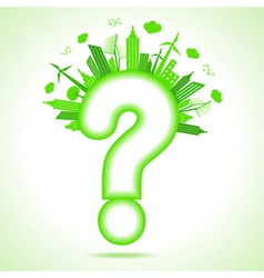 Ecology concept with question mark vector