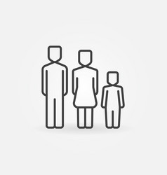 Family simple icon vector