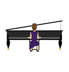 female avatar playing a piano vector image