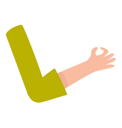 Female woman arm hand showing okay ok sign vector