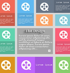 Film icon sign Set of multicolored buttons Metro vector image vector image