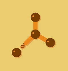 Flat icon design collection atom disconnection in vector